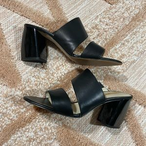 Louise Et Cie Black Chunky Heel Sandals